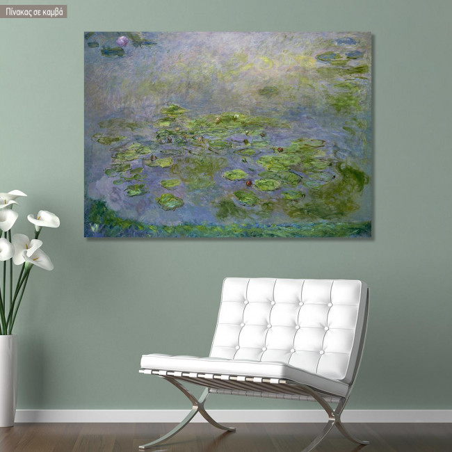 Canvas print Nympheas waterlilies, Monet C.