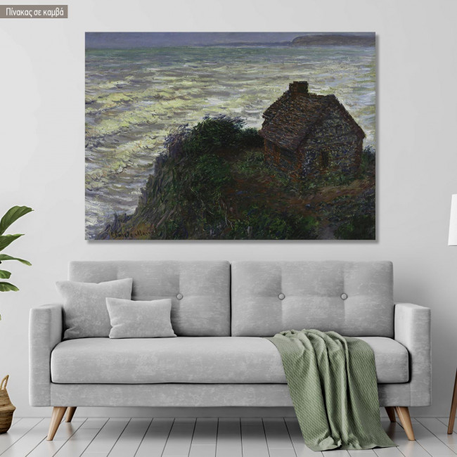 Canvas print House of the customs officer, Monet C.