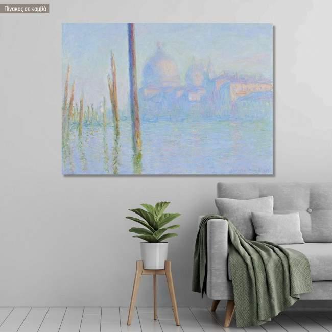 Canvas print The grand canal, Venice, Monet C.