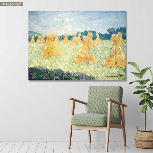 Canvas print The young ladies of Giverny, Monet C.