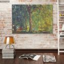 Canvas print Weeping willow, Monet C.