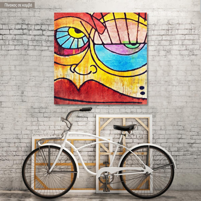 Canvas print Abstract face