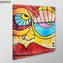 Canvas print Abstract face, side