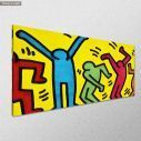 Canvas print Simple lined dancers, panoramic, side