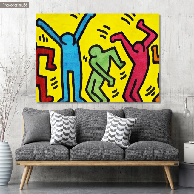 Canvas print Simple lined dancers