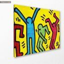Canvas print Simple lined dancers, side