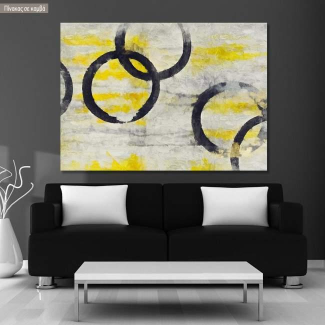 Canvas print Black circles