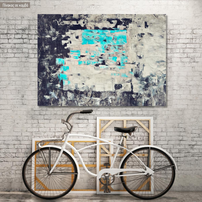 Canvas print Abstract Turquoise