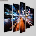 Canvas print Modern city motion five panels, side