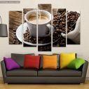 Canvas print Espresso coffee five panels