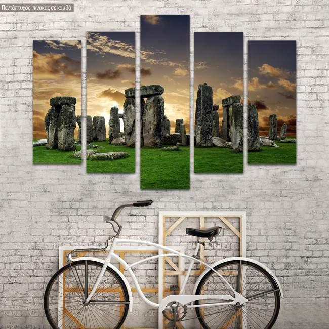 Canvas print Stonehenge five panels