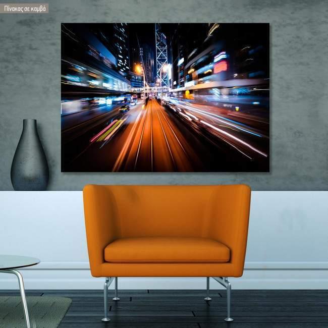 Canvas print  Modern city motion