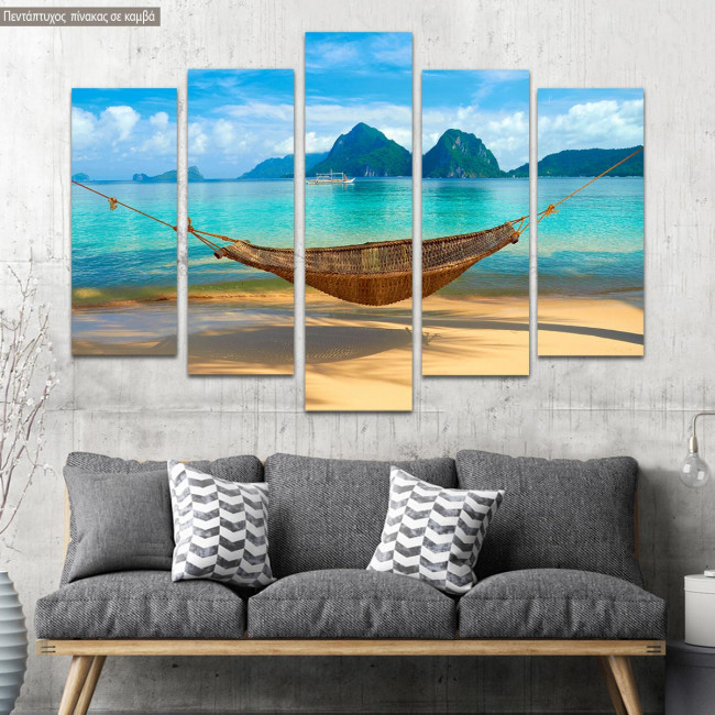 Canvas print A cool summer five panels