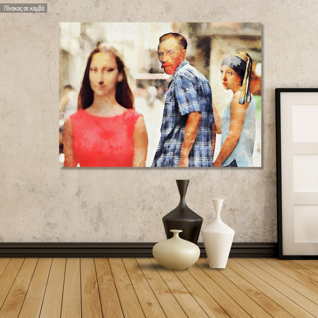 Canvas print Nothing has changed, reproduction