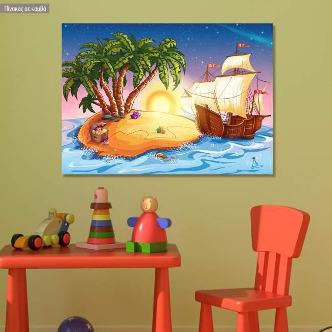 Kids canvas print Treasure island