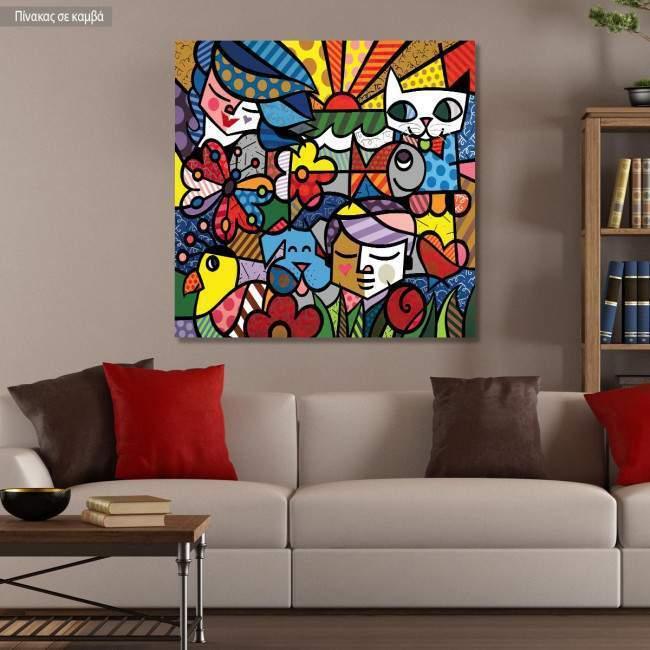 Πίνακας σε καμβά Modern cubism