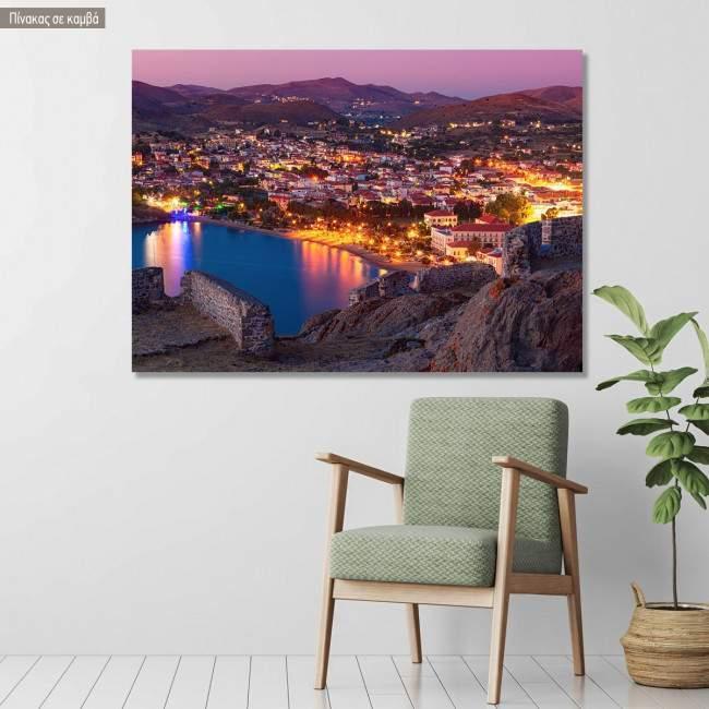 Canvas print Myrina, Lemnos