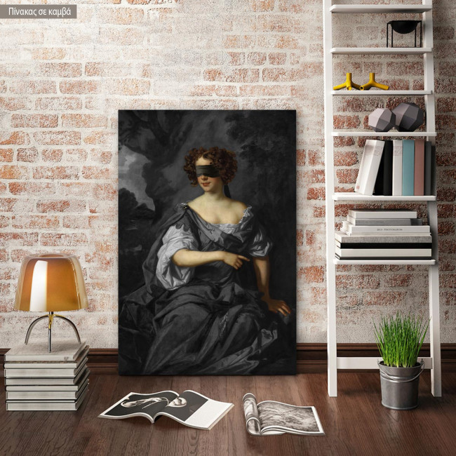 Canvas print The countess of Dorchester, reart (original Lely P)