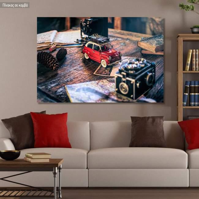 Πίνακας σε καμβά Vintage toy car