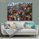 Πίνακας σε καμβά Φαβέλες, Paysage urbain