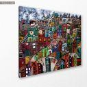Πίνακας σε καμβά Φαβέλες, Paysage urbain, κοντινό
