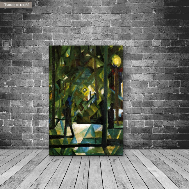 Πίνακας ζωγραφικής Evening, Macke August, αντίγραφο σε καμβά
