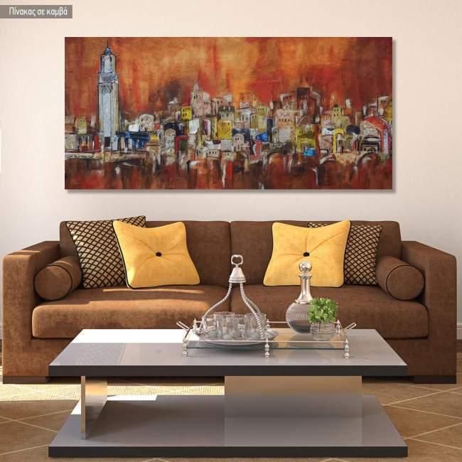 Πίνακας σε καμβά Arabic city composition, πανοραμικός
