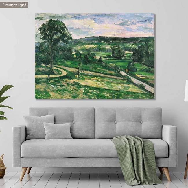Πίνακας ζωγραφικής The tree by the bend, Cezanne Paul, αντίγραφο σε καμβά