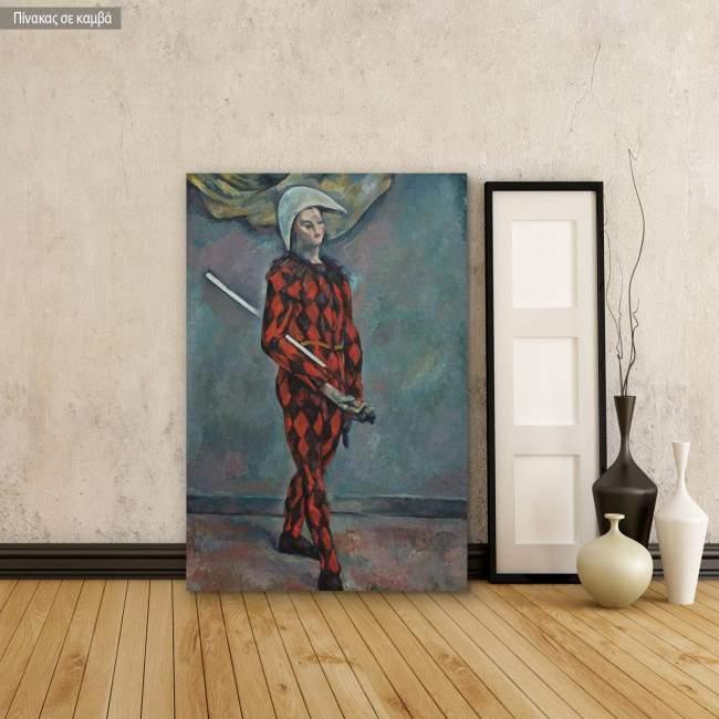 Canvas print Harlequin, Cezanne Paul