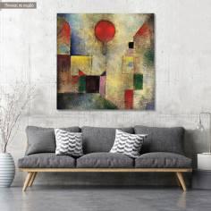 Πίνακας ζωγραφικής Red balloon, Klee P, αντίγραφο σε καμβά