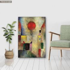 Πίνακας ζωγραφικής Red balloon, κάθετο, Klee P, αντίγραφο σε καμβά