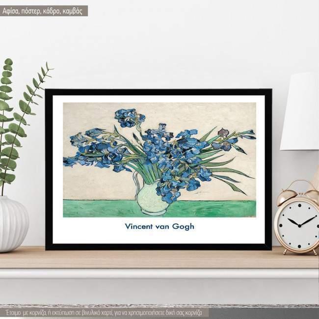 Irises, Vincent van Gogh,  Κάδρο