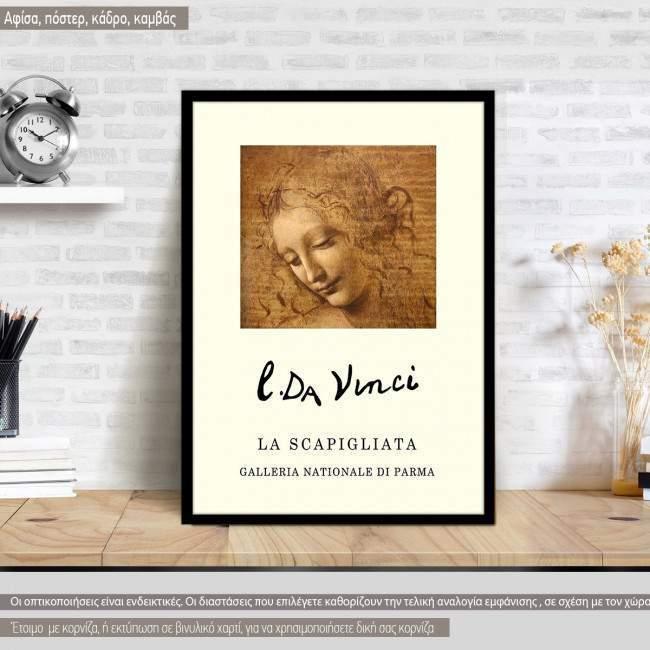 La scapigliata, Da Vinci, Κάδρο
