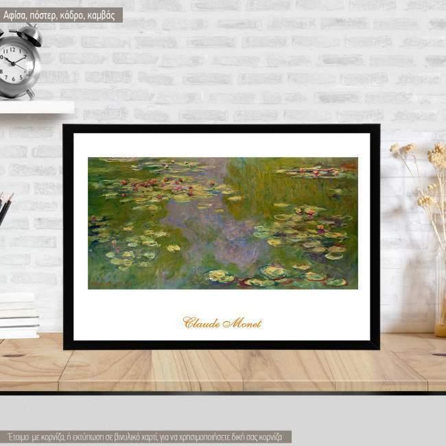 Water lilies, Monet, Κάδρο