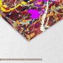 Abstract painting map reart  (original by Pollock J), πίνακας σε καμβά, λεπτομέρεια