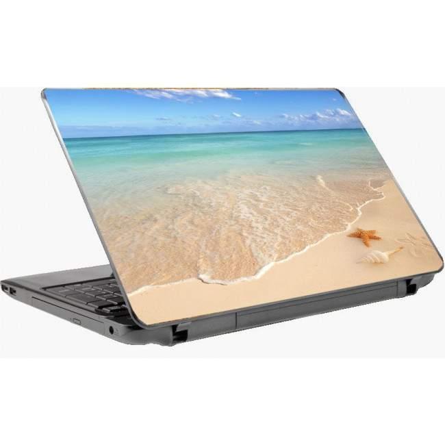 On the beach Laptop skin
