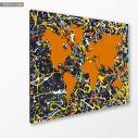 Abstract painting map I reart  (original by Pollock J.), canvas print, side