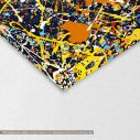 Abstract painting map I reart  (original by Pollock J.), canvas print, detail
