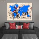 Abstract painting map II reart  (original by Pollock J.), canvas print