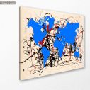 Abstract painting map II reart  (original by Pollock J.), canvas print, side