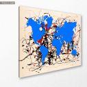 Abstract painting map II reart  (original by Pollock J), πίνακας σε καμβά, κοντινό