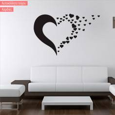 Αυτοκόλλητο τοίχου Καρδιές
