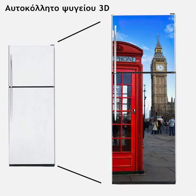Fridge sticker English telephone booth& Big Ben
