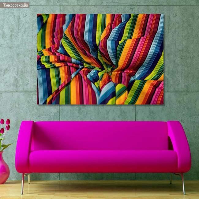 Πίνακας σε καμβά A colourful cloth, @jannerboy62