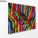 Πίνακας σε καμβά A colourful cloth, @jannerboy62, κοντινό
