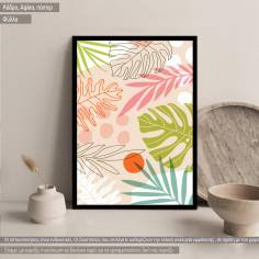 Tropical palm leaves I,poster