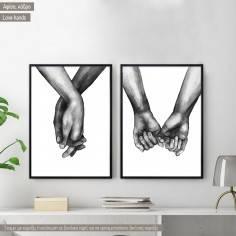 Love Hands, Αφίσα, κάδρο, καμβάς