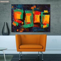 Canvas print Abstract palette knife, @steve_j