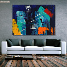 Canvas print Abstract palette knife I, @steve_j