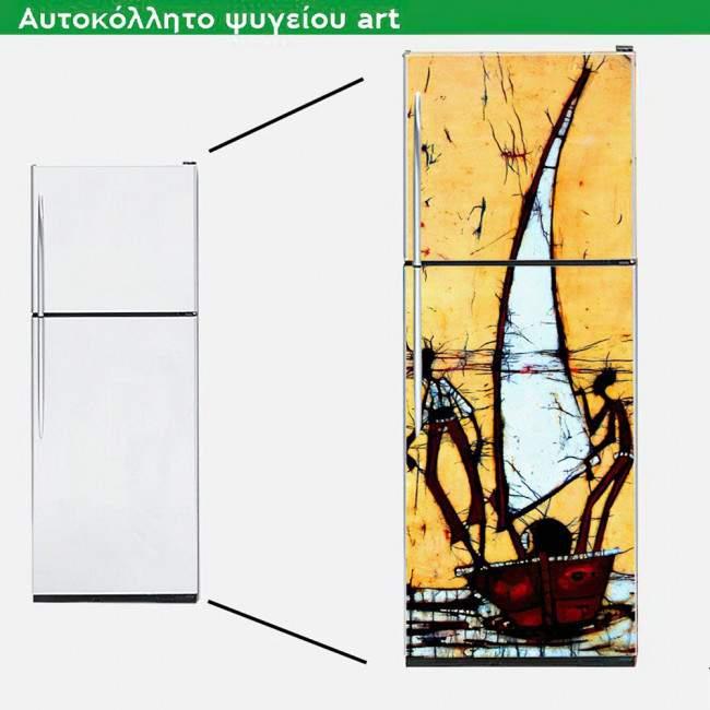 Αυτοκόλλητο ψυγείου African sailing